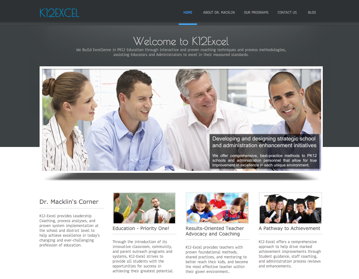 Web Design, Tucson, Tucson Website Development, K12-Excel