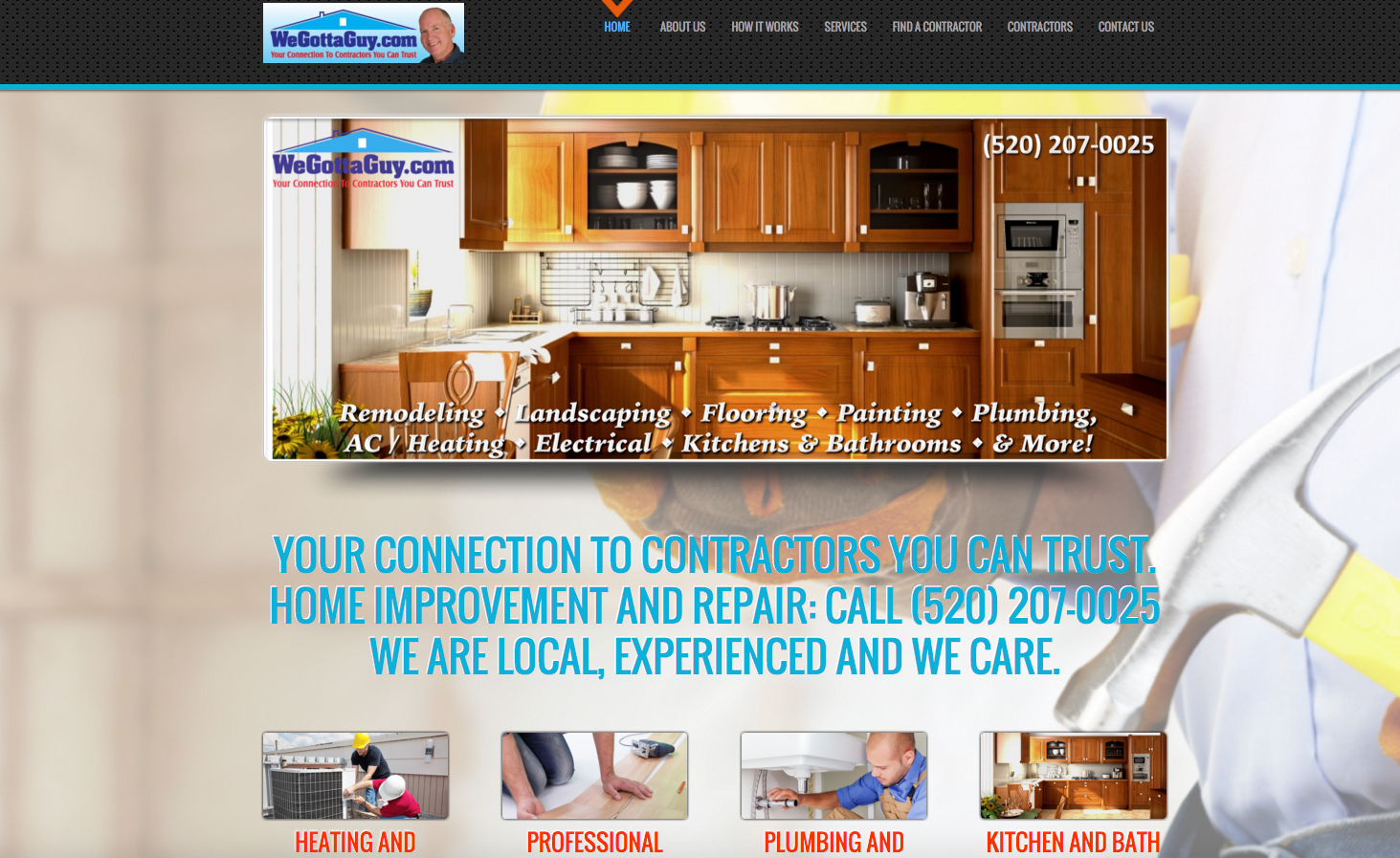 Contractor Referral Tucson, We Gotta Guy Website by eForce Marketing, Tucson Website Designer