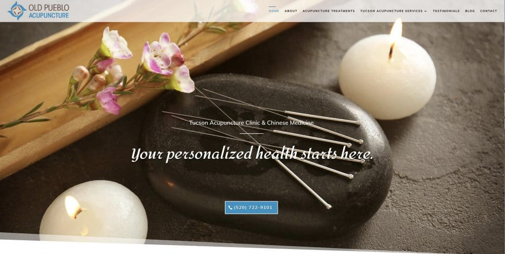 Tucson Website companies, Old Pueblo Acupuncture